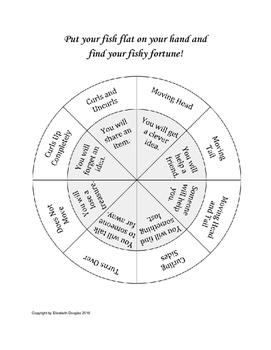 Fortune Teller Fish Chart