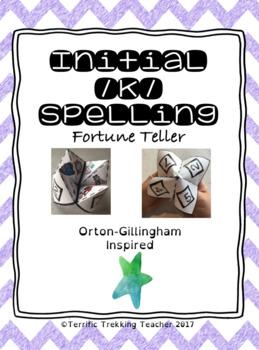 Initial /k/ Spelling Fortune Teller Activity - Orton-Gillingham inspired!