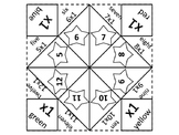 Multiplication Fortune Teller 1 through 12