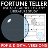 Fortune Teller Worksheet, Fun Activity for any Novel or Narrative Non-Fiction
