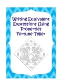 Fortune Teller: Writing Equivalent Expressions Using Properties