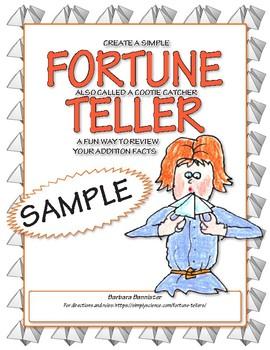 Fortune Teller for Addition ★ FREEBIE ★