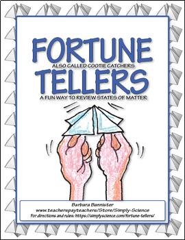 Fortune Teller for Chemistry Vocabulary