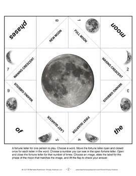 Fortune Teller for Phases of the Moon