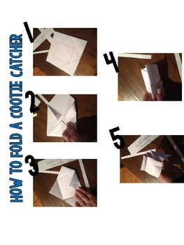 Fortune Teller...Cootie Catchers...Paper Folding Study Aid