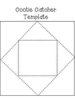 Fortune Teller...Cootie Catchers...Paper Folding Study Aid
