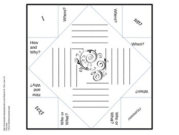 Fortune Tellers (Cootie Catchers) Blank Template with Examples