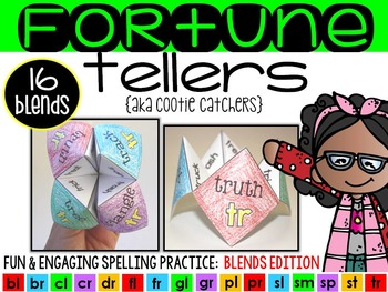 Fortune Tellers {Cootie Catchers}: Blends Edition