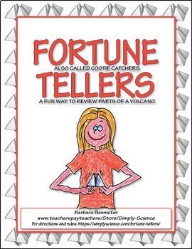 Fortune Tellers for Parts of a Volcano Terms