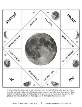 Fortune Tellers for Phases of the Moon