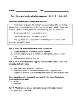 Forty Acres and Maybe A Mule Chapters 4-6 Assessment