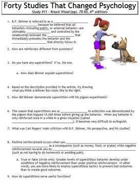 Forty Studies That Changed Psychology Worksheet #11: Knock Wood!