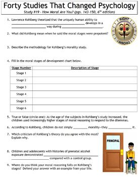 Forty Studies That Changed Psychology Worksheet #19: How Moral Are You?