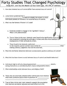 Forty Studies That Changed Psychology Worksheet #25: Master of Fate