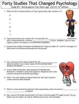 Forty Studies That Changed Psychology Worksheet #27: Racing Against Your Heart