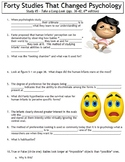 Forty Studies That Changed Psychology Worksheet #5: Take a Long Look