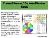 Forward Number/ Backward Number Bunch Game