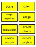 Foss 4th grade: Energy vocab-Spanish