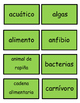 Foss 4th grade: Environments vocab-Spanish