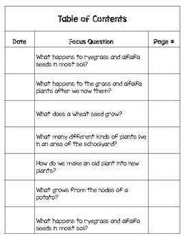 Foss: Plants and Animals Interactive Science Notebook