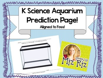 Kindergarten Science Animal Unit- Printable Prediction Page! Aligned to Foss!