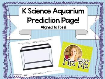 Kindergarten Science Animal Unit- Printable Prediction Pag