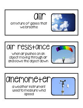Foss Science Vocabulary- Air & Weather