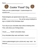 Fossil Dig with Chocolate Chip Cookies