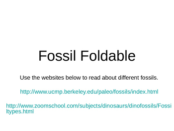 Fossil Foldable