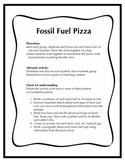 Fossil Fuel Activity Pack for Grade 5