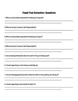 Fossil Fuel Cookie Lab