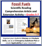 Fossil Fuel Energy Production - Science Reading Article - Grades 5-7