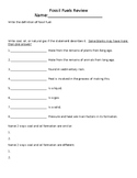 Fossil Fuel Review Quiz