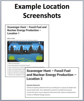 Fossil Fuel and Nuclear Energy Production – A Digital Scavenger Hunt Activity