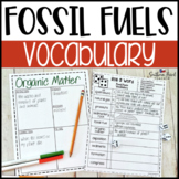 Fossil Fuels Fun Interactive Vocabulary Dice Activity EDITABLE