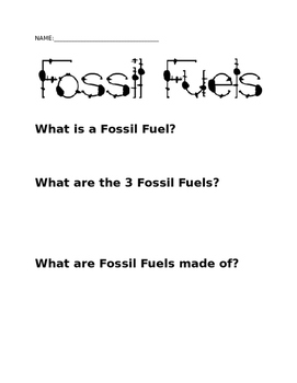Fossil Fuels: Alien Mission