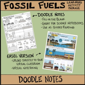 Fossil Fuels Comic with Doodle Notes