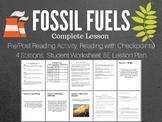 Fossil Fuels Complete 5E Lesson Bundle