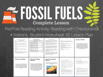 Fossil Fuels Complete 5E Lesson Bundle by Finding Success in STEM