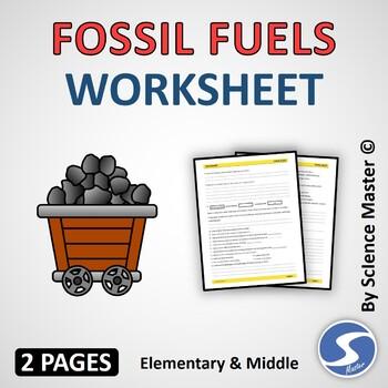 Fossil Fuels Worksheets | Teachers Pay Teachers