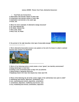 Fossil Fuels and Alternative Energy Review