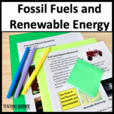 Fossil Fuels and Renewable Energy Close Reading Unit NGSS 4-ESS3-1