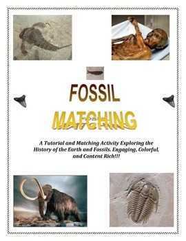 Fossil MATCHING ( 3 Different Activities!)  Great Reviews!