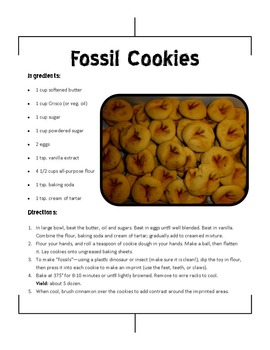 Fossil Packet--Art/Science/ELA Packet, Handouts, Lesson Plan, Rubric, CCSS