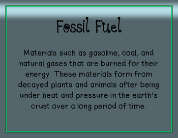 Fossil-Related Vocabulary Posters