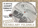 Fossil Vocabulary Foldable FREEBIE