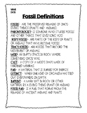 Fossil Vocabulary Words