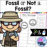 Fossil or Not a Fossil? Cut and Paste Sorting Activity