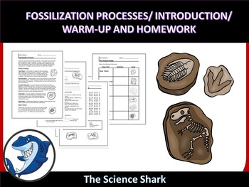 Fossilization Processes - Introduction, Warm-up, and Homework