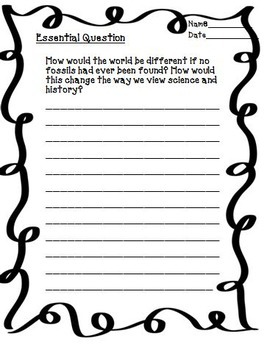 Fossils: A Peek into the Past Journeys 5th Grade Unit 6 Lesson 28 Activities